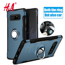 Фотография H&A Car Holder Stand Magnetic Bracket Case For Samsung Galaxy Note 8 Ring TPU + PC Back Cover For Samsung S8 Plus S7 Edge Cases