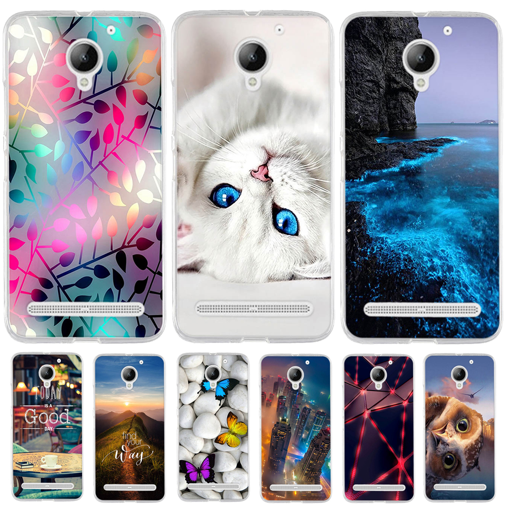For Lenovo Vibe C2 k10a40 Case Silicone Phone Case for Lenovo C2 Power Cover Soft TPU 3D Flower Flower for Lenovo Vibe C2 Cover