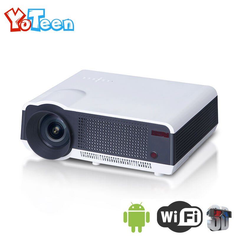 Yoteen LED86 WiFi Projector Android 4.4 1080P Full HD 3D Video Movie Portable Projector 2800 Lumens 1280x800 Video Movie Beamer