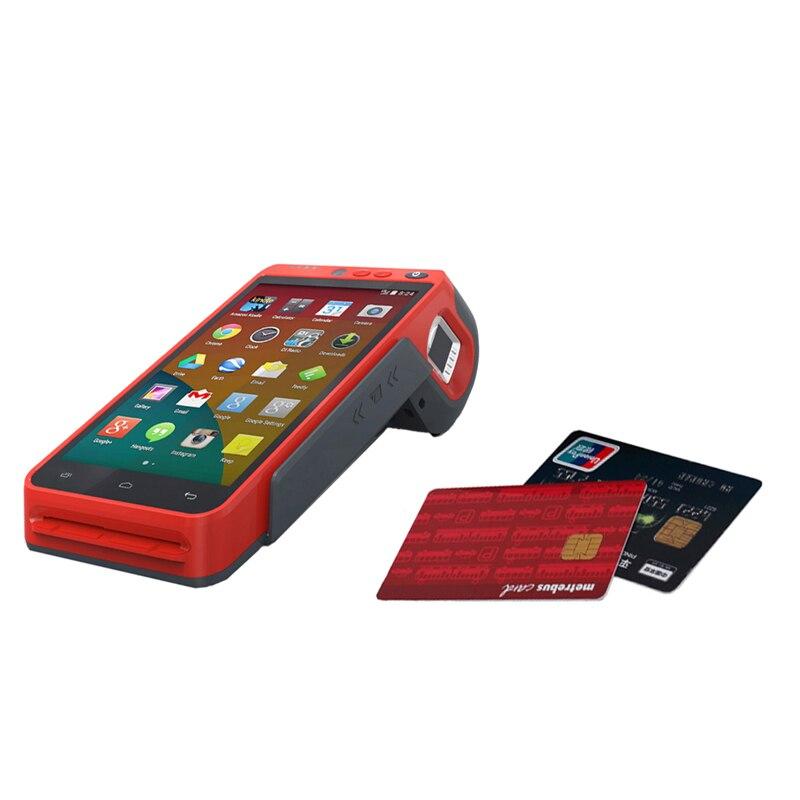 5.5 pouces 3G/4G/WIFI NFC écran tactile portable empreinte digitale Edc Terminal Android avec imprimante HCC-Z100 - 6