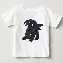 How to Train Your Dragon Toothless baby boy shirt Funny T Shirts Retro Shirt Custom summer children white clothing MJ