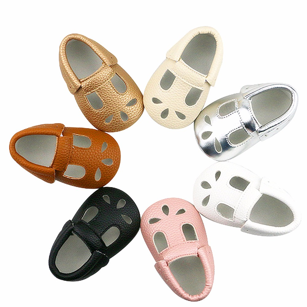 2019 New Arrival Summer Infant Baby Boys Girls Casual Breathable Hollow Out PU Leather Baby Slippers Prewalker Dress Shoes 0-24M