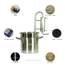 12L/20L/35L/60L Moonshine Homebrew Distiller Wine Beer Vodka Alcohol Distiller Home-made winemaking stainless steel equipment 25l large capacity stainless steel wine brewing machine distillation wine equipment alcohol vodka liquor distiller pot boilers