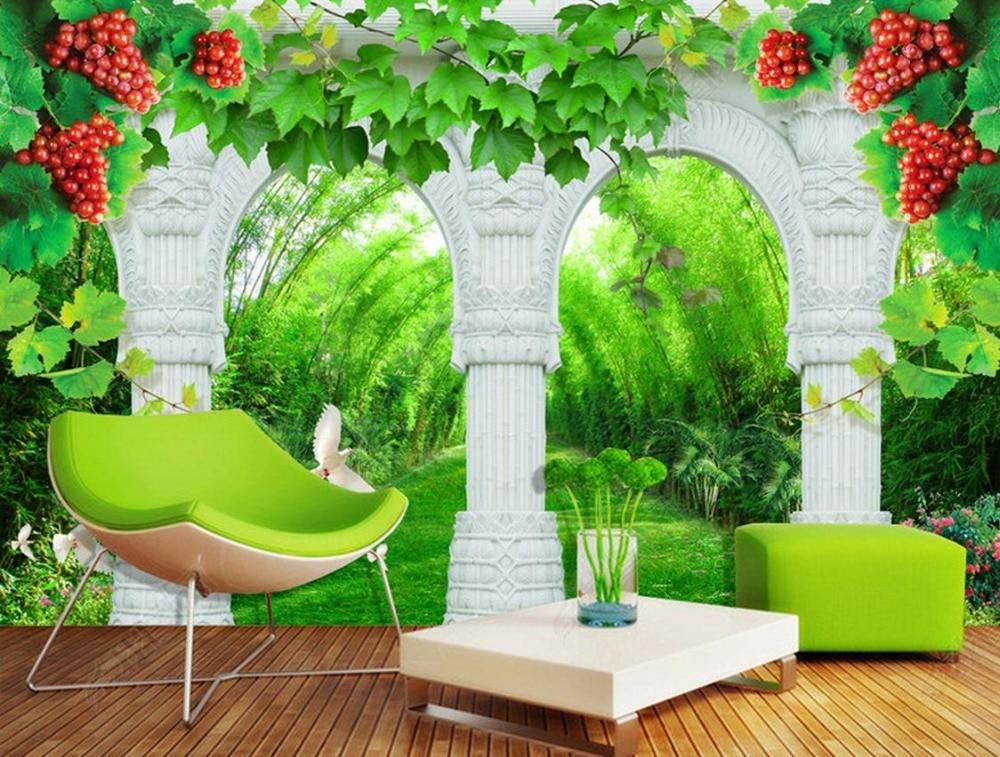 paisaje papel tapiz para paredes de encargo d columna rota vides wallpaper fondos de pantalla d