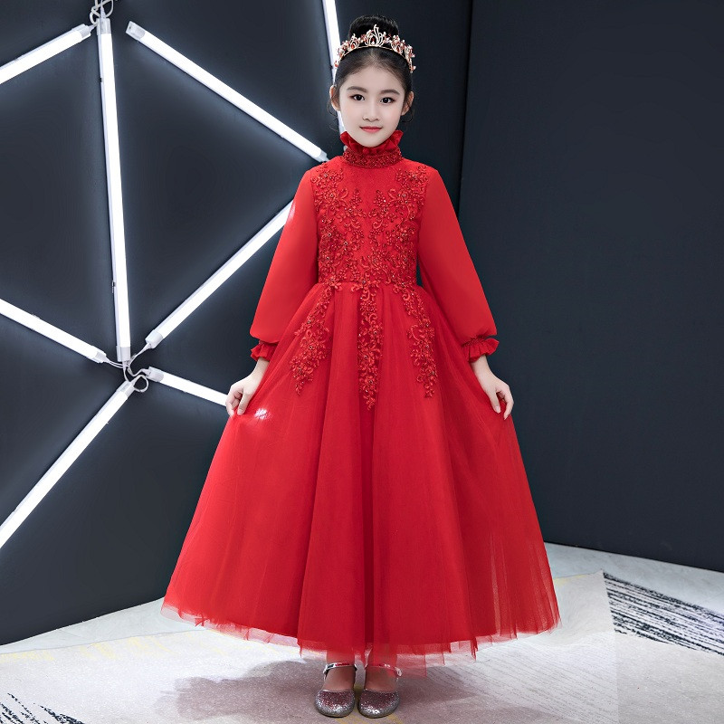 Kids Children Luxury Embroidery Flowers Wedding Birthday Party Wear Dress Girls Teens Model Show Piano Outfits 3-13Years DressKids Children Luxury Embroidery Flowers Wedding Birthday Party Wear Dress Girls Teens Model Show Piano Outfits 3-13Years Dress