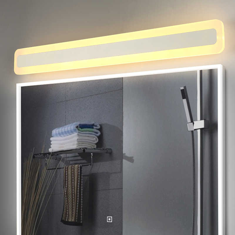 led Mirror front light bathroom simple and modern led toiletry makeup light waterproof fog bathroom toilet bathroom mirror lamp