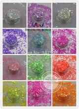 Переливающиеся перламутровые цветные блестящие бабочки в форме бабочки для дизайна ногтей и рукоделия, размер 3 мм, для дизайна ногтей