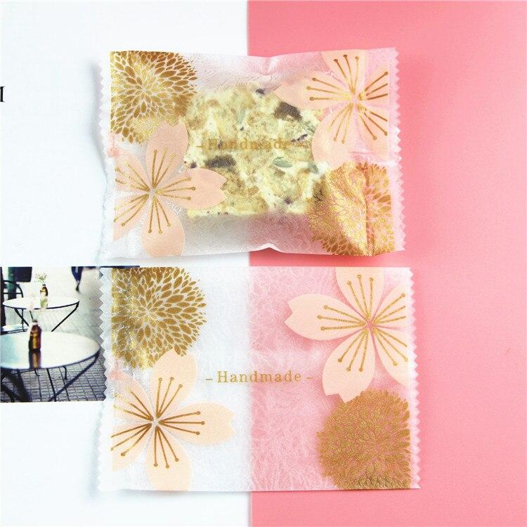 <+>  Густой песок сакуры с цветочным узором ручной работы машина самоуплотняющийся конфетный мешок 7   ★