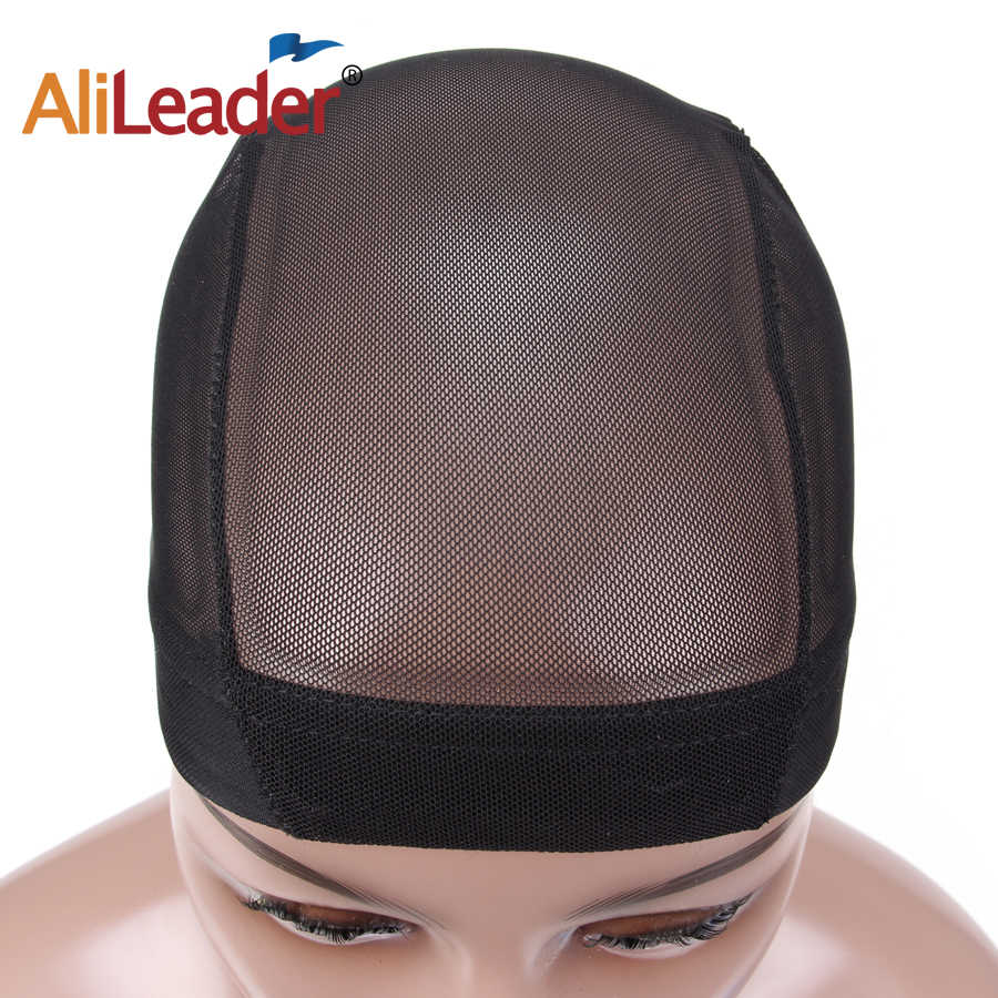 AliLeader Glueless Hair Net Wig Liner Cheap Wig Caps For Making Wigs  Spandex Elastic Mesh Dome 371c6c82574c