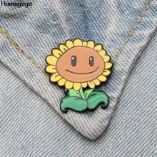 Homegaga Plants vs Zombies Zinc tie cartoon Funny Pins backpack clothes brooches for men women hat decoration badges medal D2037