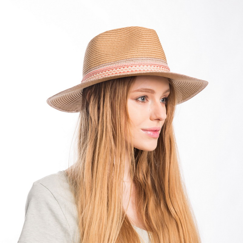 9aa19b740d82 Aliexpress.com : Buy Muchique Women's Summer Sun Hat with Wide Brim Metallic  Panama Fedora Paper Straw Hat with Chic Style from Reliable paper straw hat  ...