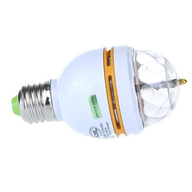 Free Shipping 3W E27 Colorful Rotating RGB LED Stage light LE070 lamp Bulb