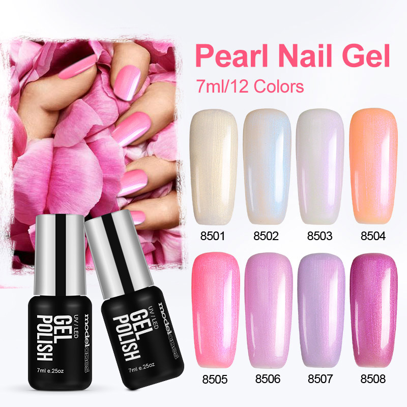 Modelones 12 couleurs rose couleur série perle UV vernis à ongles vernis lampe à LED vernis à ongles UV Gel vernis à ongles