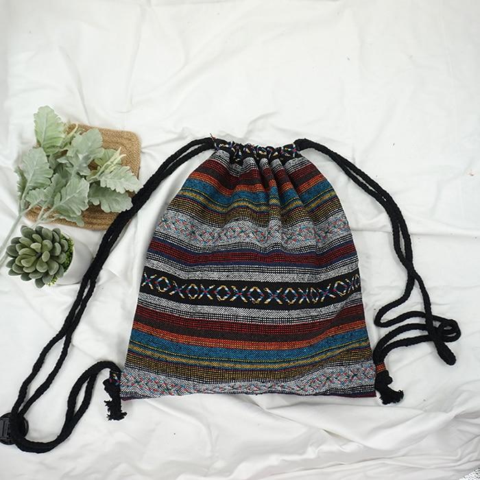 HTB1NaSMePgy uJjSZTEq6AYkFXaM LilyHood Women Fabric Backpack Female Gypsy Bohemian Boho Chic Aztec Ibiza Tribal Ethnic Ibiza Brown Drawstring Rucksack Bags