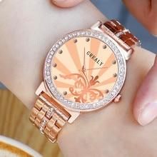 Diamond Womens Wrist Watches Rose Gold Fashion Female Ladies Quartz Stainless Strap Relojes Mujer