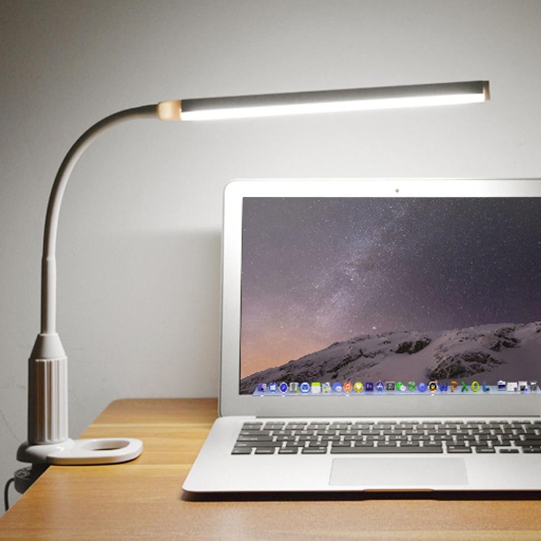 Mini Ordner Lampe Tisch Lampe 5 watt 24 LEDs Auge Schützen Clamp Clip Licht Stufenlos Dimmbar Biegsamen USB Powered Touch sensor Led