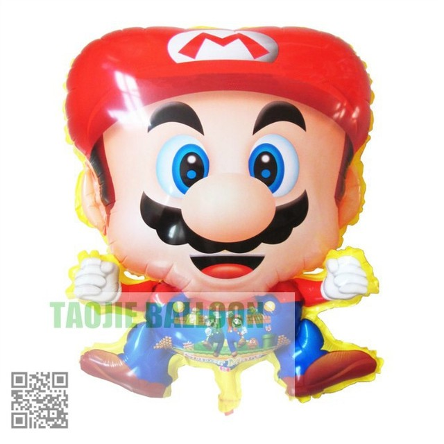 Free shipping  helium balloon foil balloons 50pcs/Lot Mario balloon for kid's toys party decoration