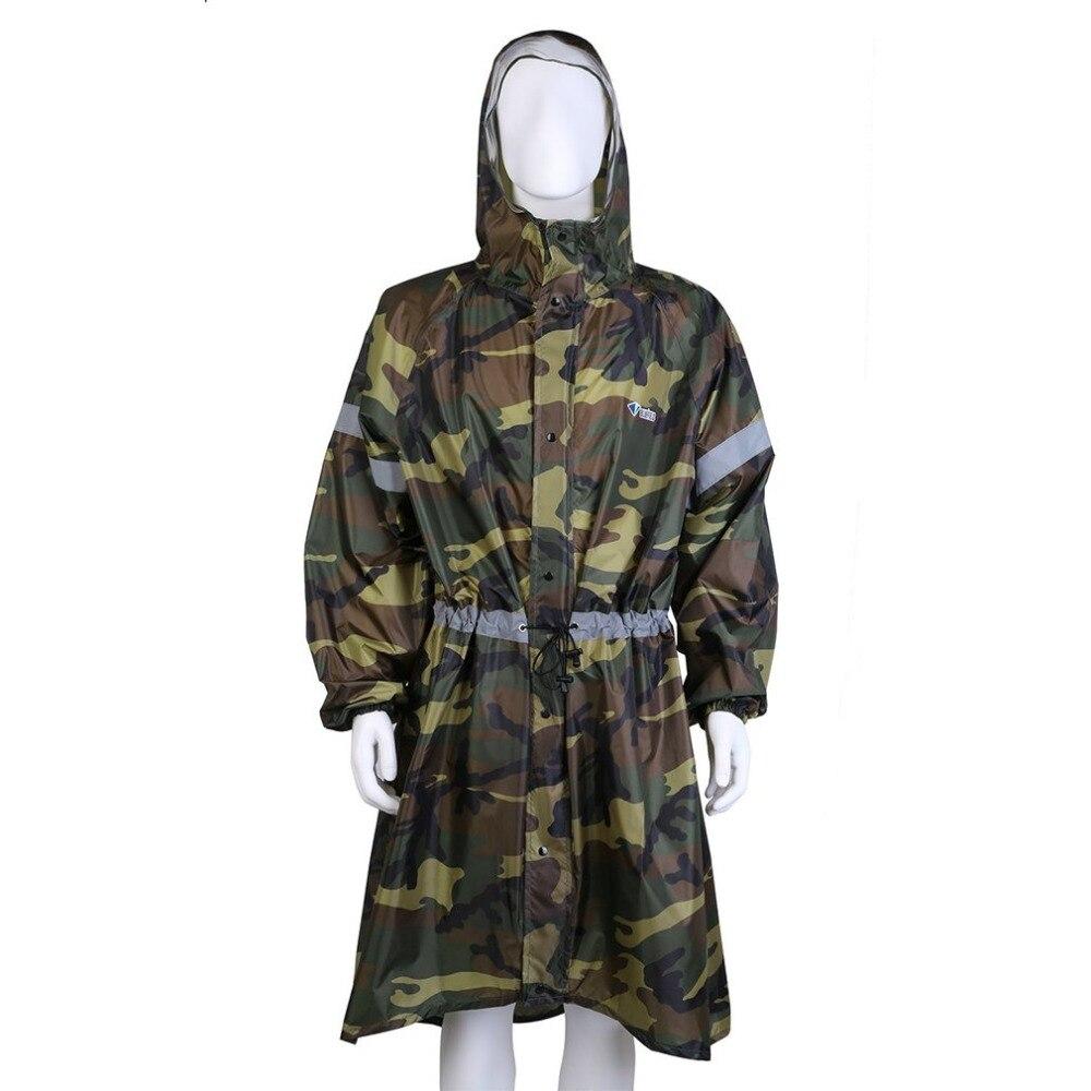 Bluefield brand Outdoor Camouflage sport raincoat Camping Hiking Backpack Tarp Rain Covers Raincoats Rain Cape Poncho M/XL