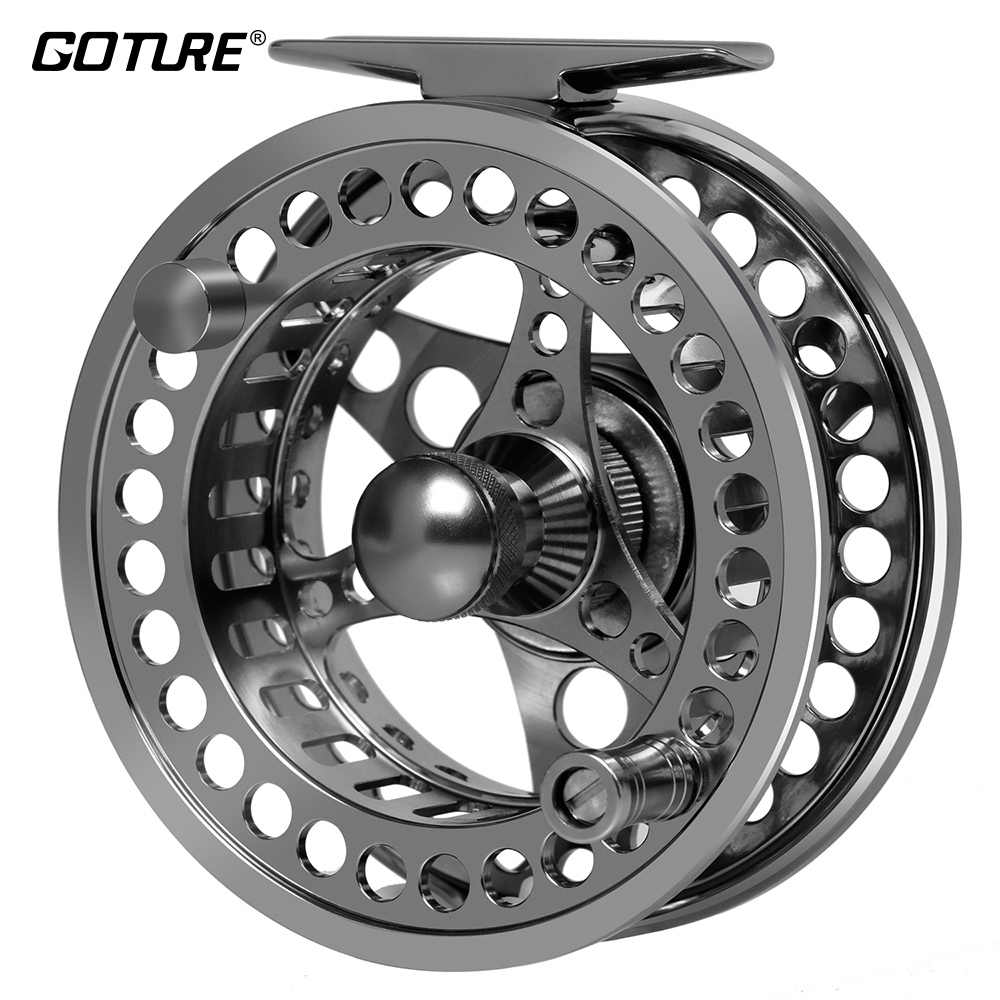 Goture 3/4 5/6 7/8 9/10 GEW Grote Prieel Vliegvissen Reel CNC-gefreesd Aluminium Links/Rechts Spuitgieten reels Max Drag 8kg