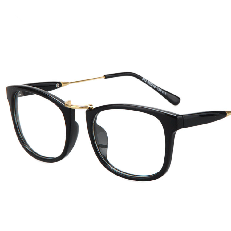 2015 new korea fashion brand square frame eyeglasses women hipster vintage nerd glasses men glasses clear