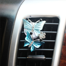 Car Perfume Air-Freshener Natural-Smell Decoration Clip-Fragrance Auto-Accessories Butterfly