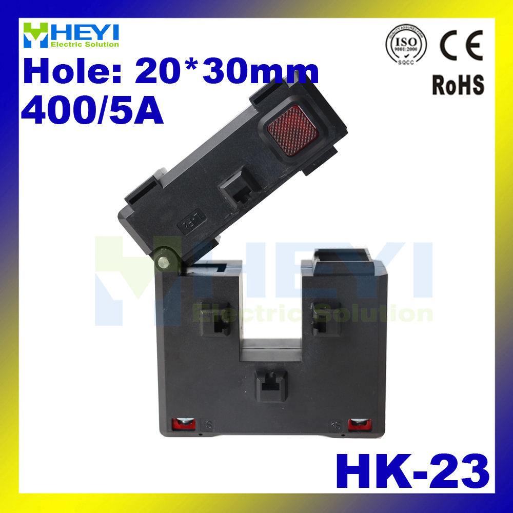 цена на Amazing Update clamp on split core toroidal current transformer HK-23 400/5A Class 0.5 high capacity split-core cts with CE