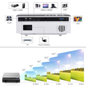 Image 3 - Everycom T26L Real LCD Full HD Projector Native 1080P 5500 Lumens Video Projecteur LED Home Theater HDMI Option WIFI Beamer