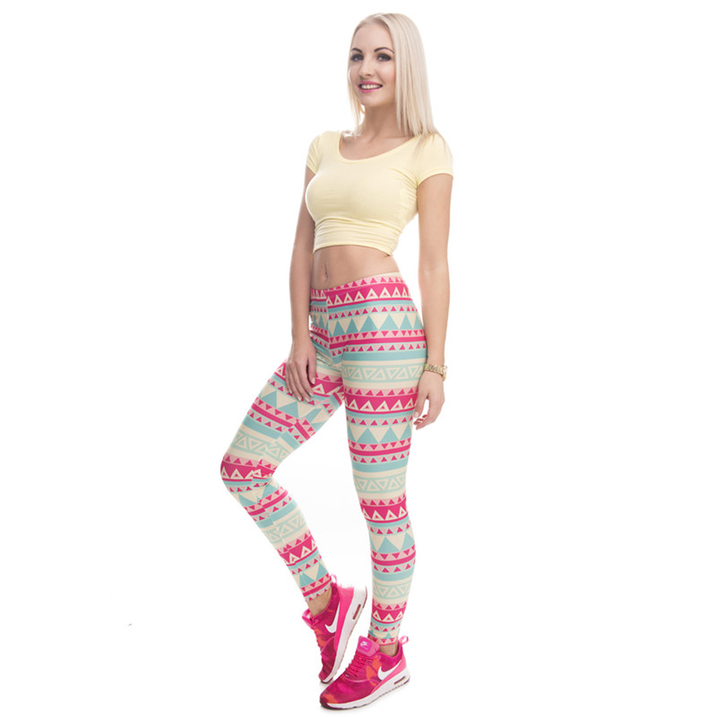 Zohra Brand New Fashion Aztec Printing legins Punk Women's Legging Stretchy Trousers Casual Slim fit Pants Leggings 14