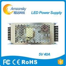 Rong profissional elétrica fonte de alimentação 5 v 40a levou para a tela de pano