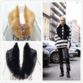 Fashion winter coat with faux fur collar Large scarf shawl