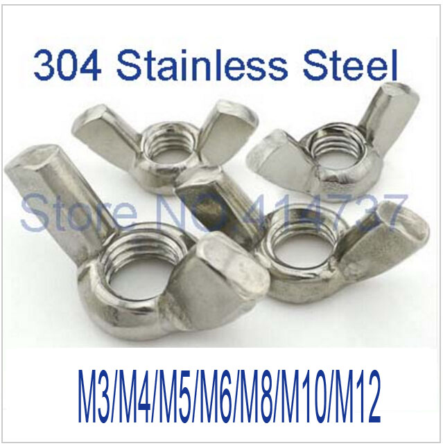 M3/M4/M5/M6/M8/M10/M12 Wing Nuts Butterfly Nuts Hand Nut  Stainless Steel 304 m