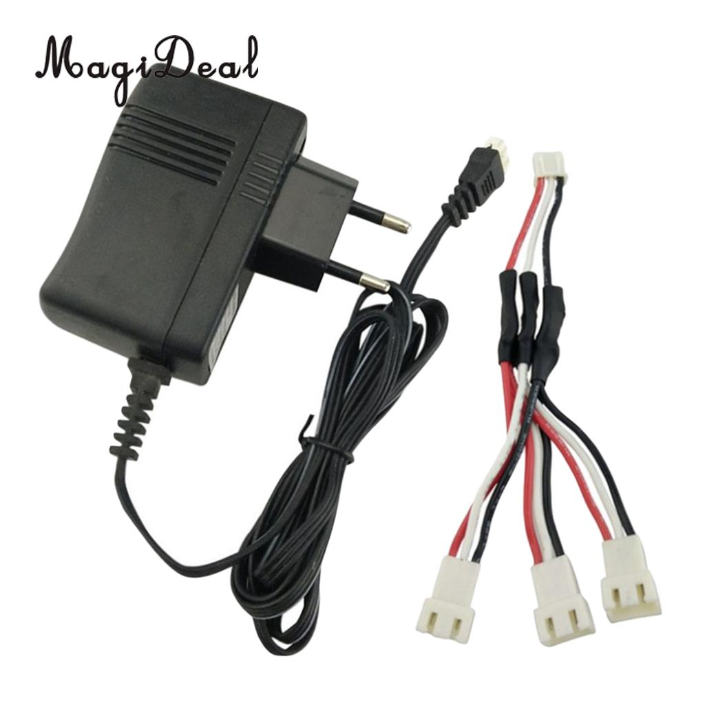 MagiDeal Lipo Battery Charger+3 in 1 Charge Line for SYMA X8SW X8SC X8C X8G X8HW X8HC X8SG X8 PRO V262 V913 X6 Drone
