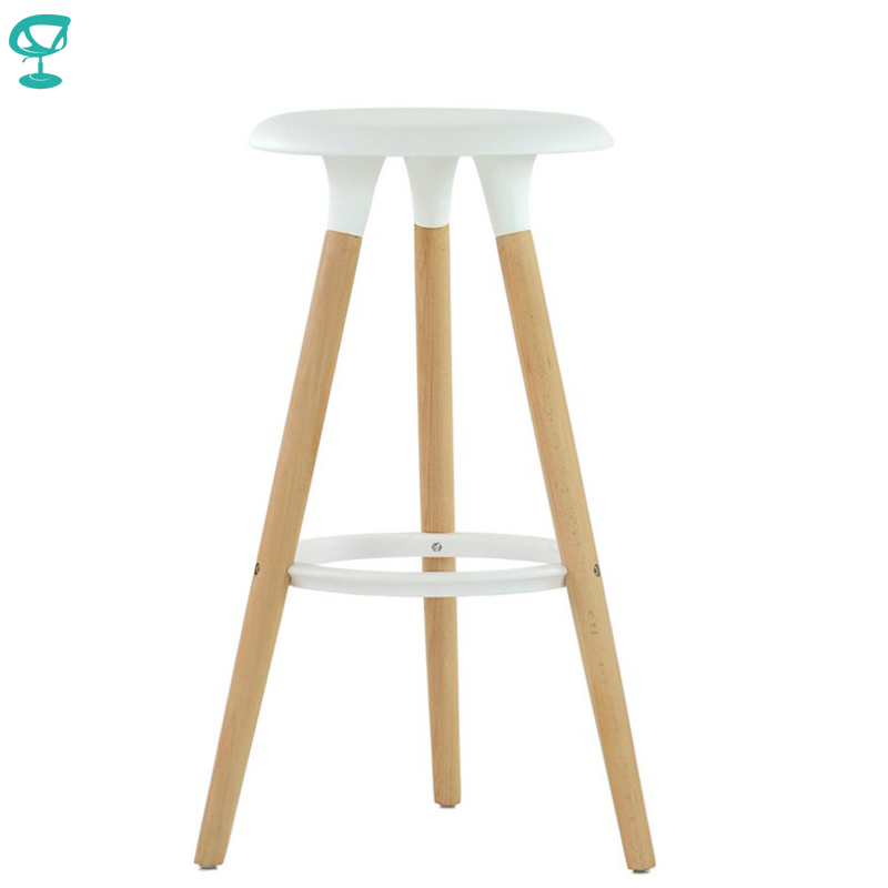 94933 Barneo N-19 Plastic Wood Kitchen Breakfast Interior Stool Bar Chair Kitchen Furniture White Free Shipping In Russia