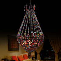 Modern 50cm Cafe Villa lighting Caboche Ball Gold/Yellow Lamp Glass Crystal pendant light FG962
