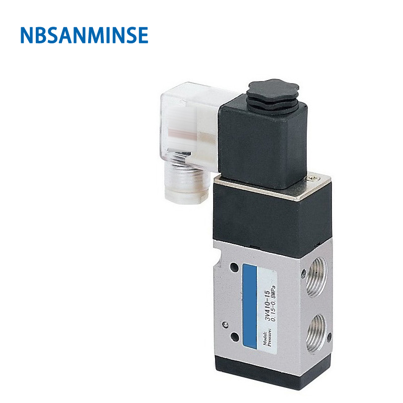 3V410 3V420 Series 1/2 G Solenoid Valve Pneumatic Control Single Double Coil AIRTAC Type Sanmin