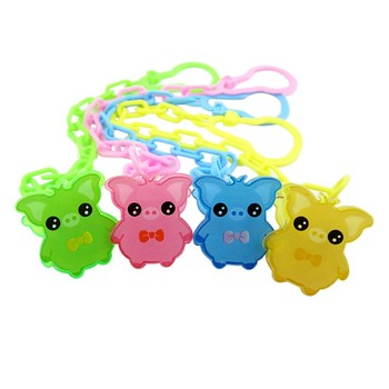 Cute Baby Pacifier Chain Baby Soothers Chain Clip Holder Feeding Product Animal Cartoon Baby Pacifier Anti Lost Chain conjuntos casuales para niñas