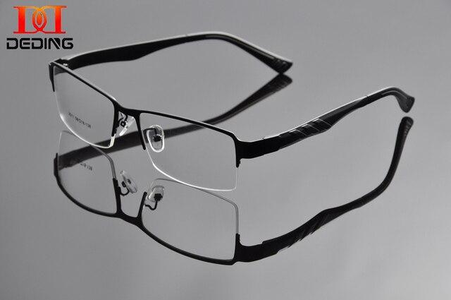 Человек мода супер-большой оптические очки полукадр большая голова металлические большой размер очки бизнес негабаритных очки кадр DD0927