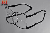 איש סופר גדולה אופנה משקפיים אופטיים חצי ראש גדול מסגרת מתכת מסגרת רחב מימדים eyewear משקפיים עסקי גודל גדול DD0927