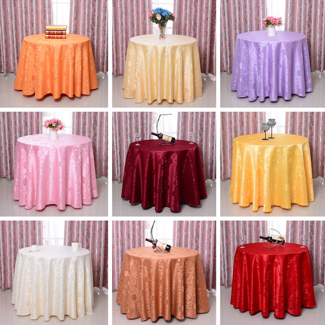 260cm/104 \  high quality big round table cloth table cover for home decoration wedding party table cloth round cover & 260cm/104 \