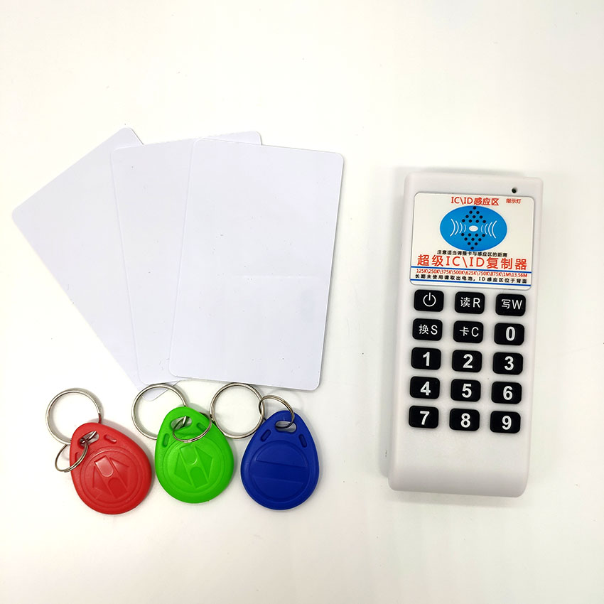 Handheld 125Khz 13.56MHZ RFID Card Tag Copier Duplicator Cloner Reader Writer + 3pcs 125KHz T5577 Keys + 3pcs 13.56MHZ UID Cards