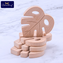 1/2Pc Beech Wooden Teether Turtle Leaves Decor Toys DIY Pendant Craft Graffiti Rodent Chew Biter For Kids Goods