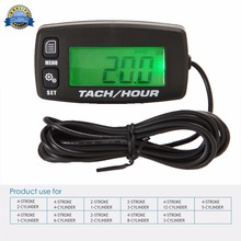 Gas Engine MX backlit Hour Meter Tachometer for motocross motorcycle marine glider ATV UTV snow blower