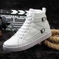 Горячий продавать новые высокие верхние мужчины зимние ботинки прилив осень Корейский белый черный мужской обуви