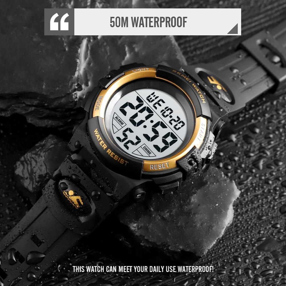 Image 4 - SKMEI Children LED Electronic Digital Watch Chronograph Clock Sport Watches 5Bar Waterproof Kids Wristwatches For Boys Girls-in Children's Watches from Watches