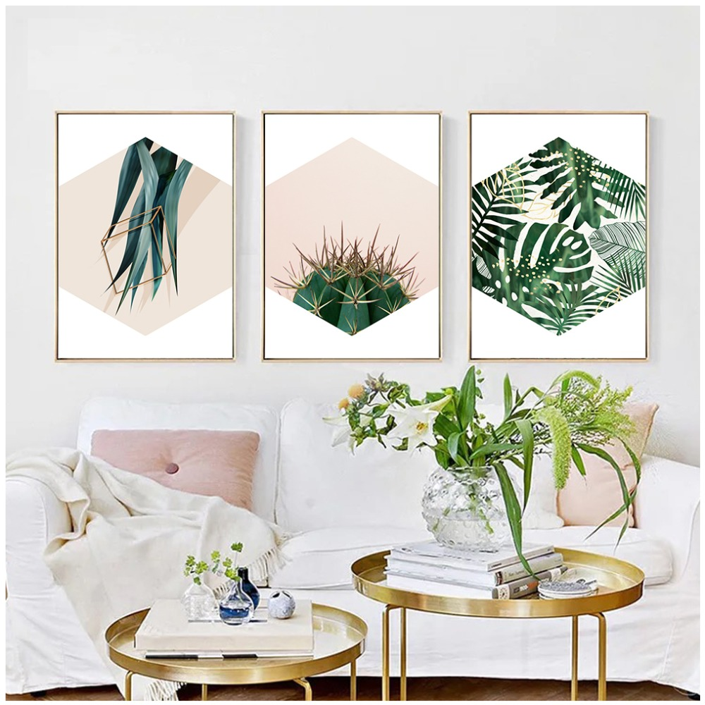 Hd Print Green Plants Leaves Modern Wall Art Canvas