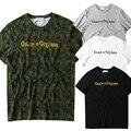 Gosha Rubchinskiy Clássico Da Moda T-Shirt Dos Homens Hip Hop Streetwear Carta Camuflagem Militar Do Exército T Camisas 2017 Gosha Curto Tee