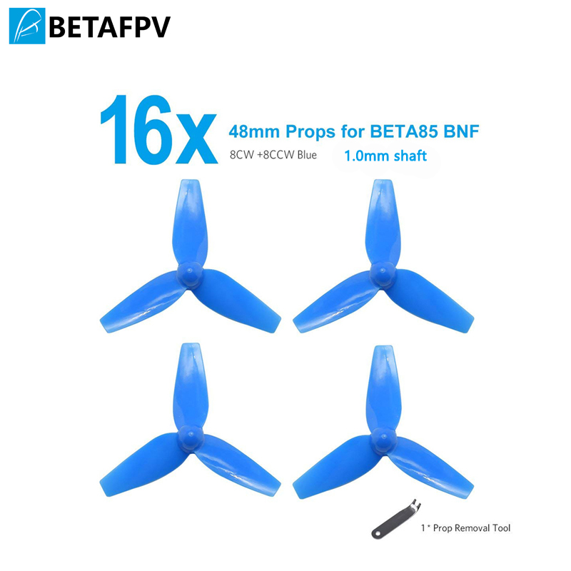BETAFPV 4 Sets 3-Blade Props 48mm 1mm Shaft Blue for BETA85 BNF image