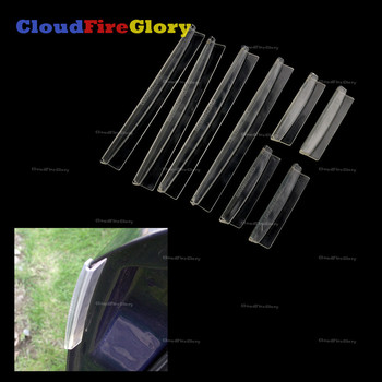 CloudFireGlory 8Pcs White Color Car Auto Styling Door Edge Guard Strip Scratch Protector Anti-collision Trim Mouldings image