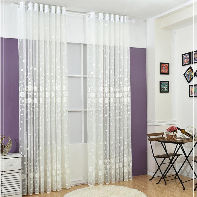 Floral Sheer Vorhänge-kaufen Billigfloral Sheer Vorhänge ... Vorhange Wohnzimmer Weis