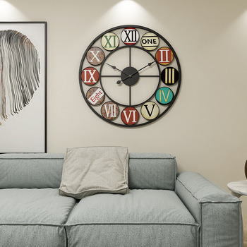 Nordic style Hot Selling Metal Wall Clocks And Watches Europa Original Farm Decorative Clock Wall Design Modern Gift Concept